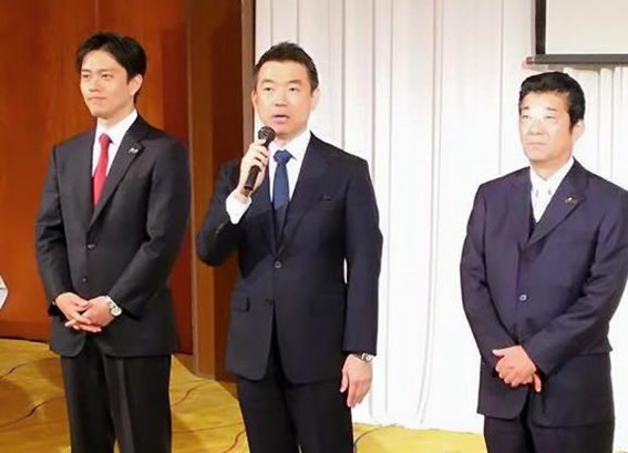 橋下前大阪市長・松井大阪府知事・吉村大阪市長